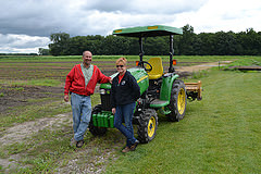 Mike and Darlene Parran at the farm