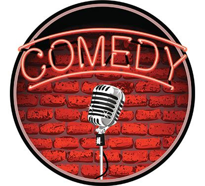 Comedy Graphic for Stand Up Comedian with microphone