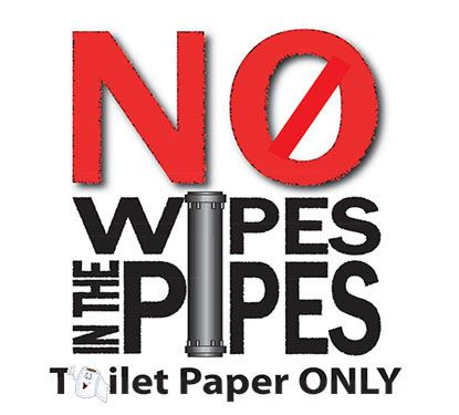 No wipes in the pipe text