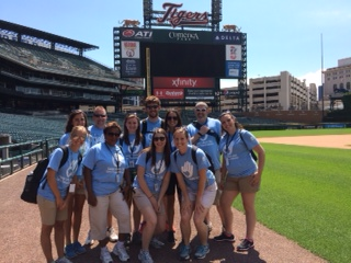 Camp Leisure Club Staff at Comerica Park