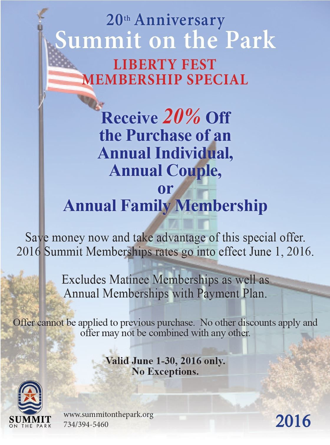 Liberty Fest Membership Flyer